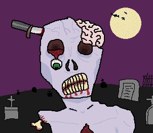 zumbi de halloween