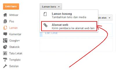 menambahkan laman alamat web