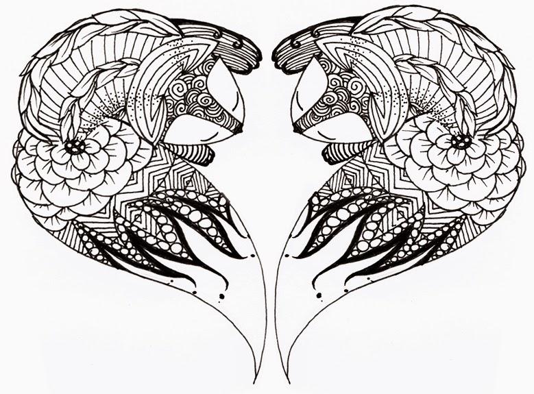 ZIA, Zentangle, Doodle