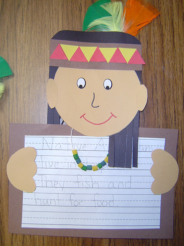 Mrs t 39 s first grade class native americans for Turkey crafts for first grade