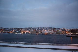 photo of Duluth in the evening