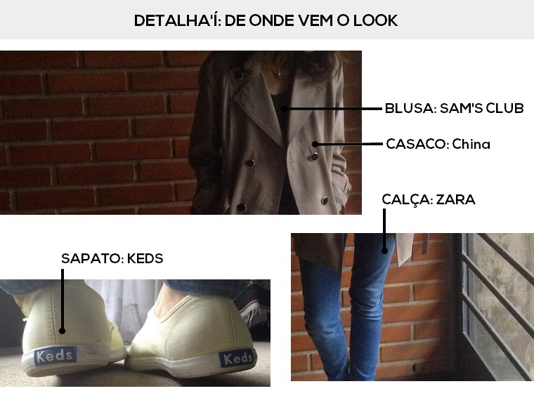 Look do dia detalhado