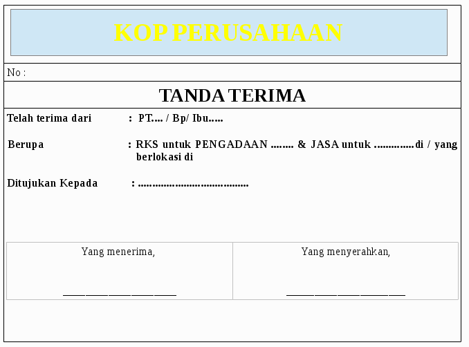 Download image Contoh Tanda Terima PC, Android, iPhone and iPad ...