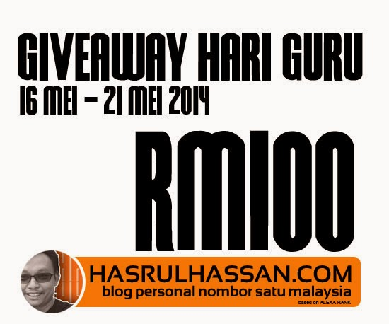 Giveaway Hari Guru with HasrulHassan