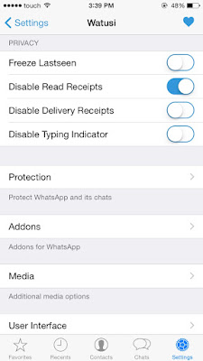 Watusi WhatsApp Cydia Tweak