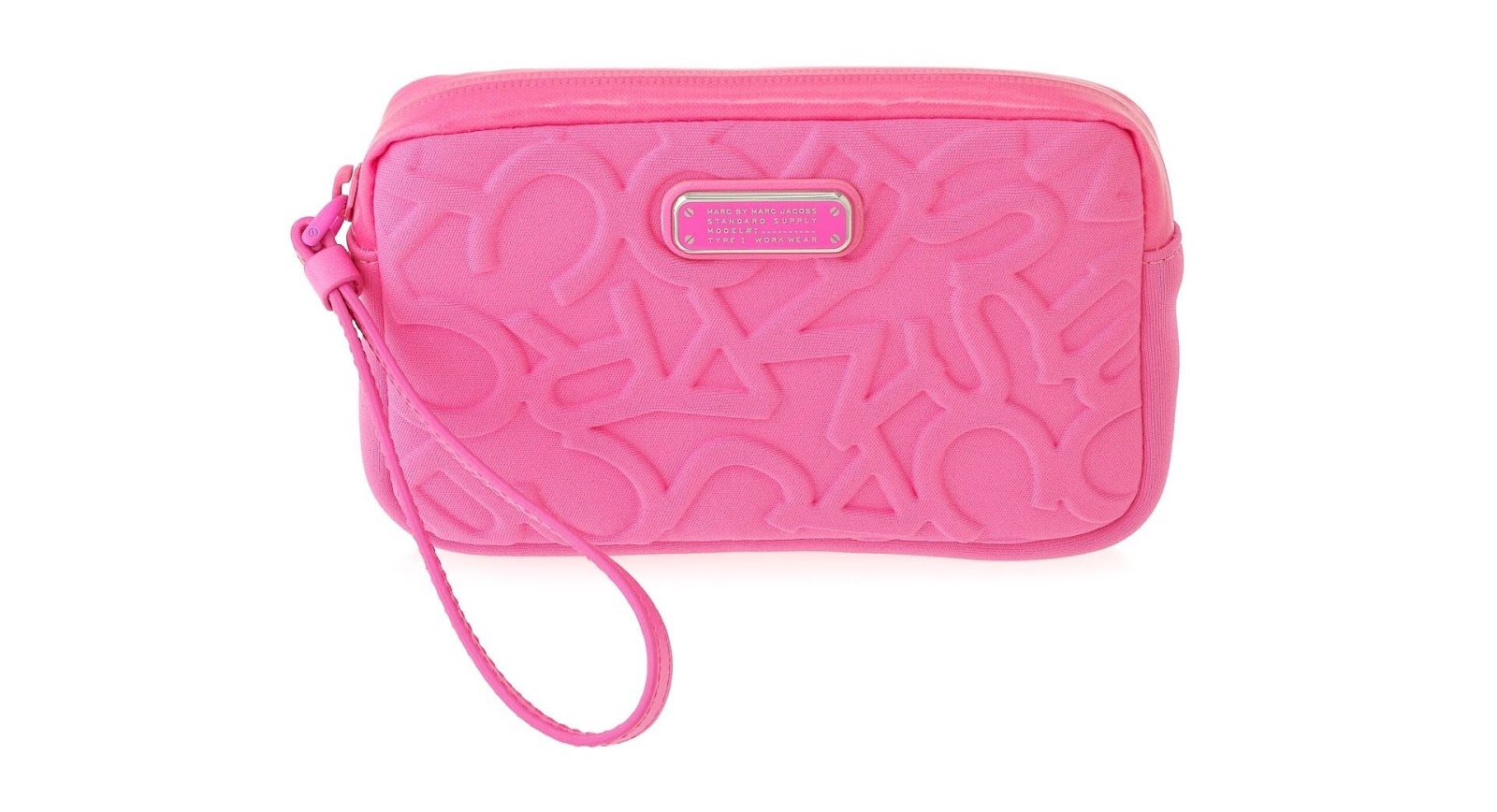 Marc by Marc Jacobs Knockout Pink neoprene universal smartphone case, marcjacobs.com