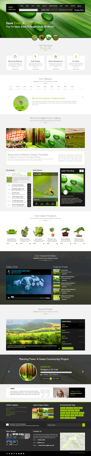 Responsive Environment WordPress Theme
