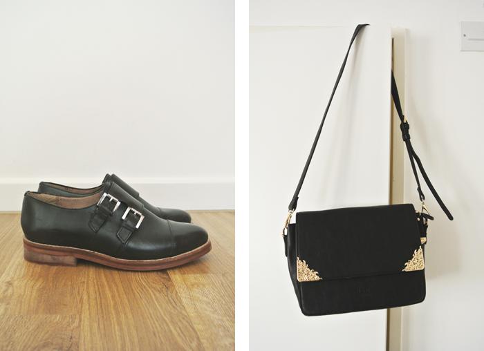 Monk shoes and handbag