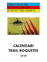 Calendari Trail Roquetes 2016