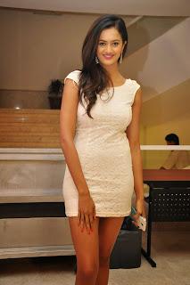 Shubra Aiyappa in Short Dress at Memu Saitam Press meet must see beauty