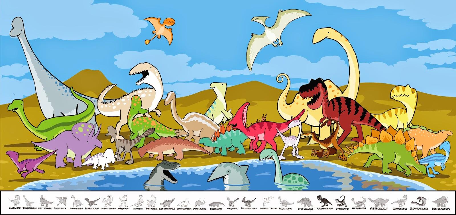 Allosaurus Brachiosaurus Corythosaurus Dimorphodon Elasmosaurus Fabrosaurus Giganotosaurus Harpymimus Iguanadon Janenschia Kentrosaurus Leptoceratops Mixosaurus Nodosaurus Oviraptor Parasaurolophus Quetzalcoatlus Riojasaurus Stegosaurus Tyrannosaurus Utahraptor Vulcanodon Wuerhosaurus Xiaosaurus Yaguarasaurus Zuniceratops