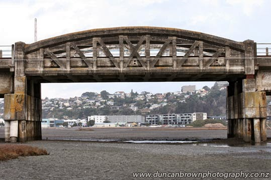 The old Embankment Bridge over Ahuriri Estuary photograph