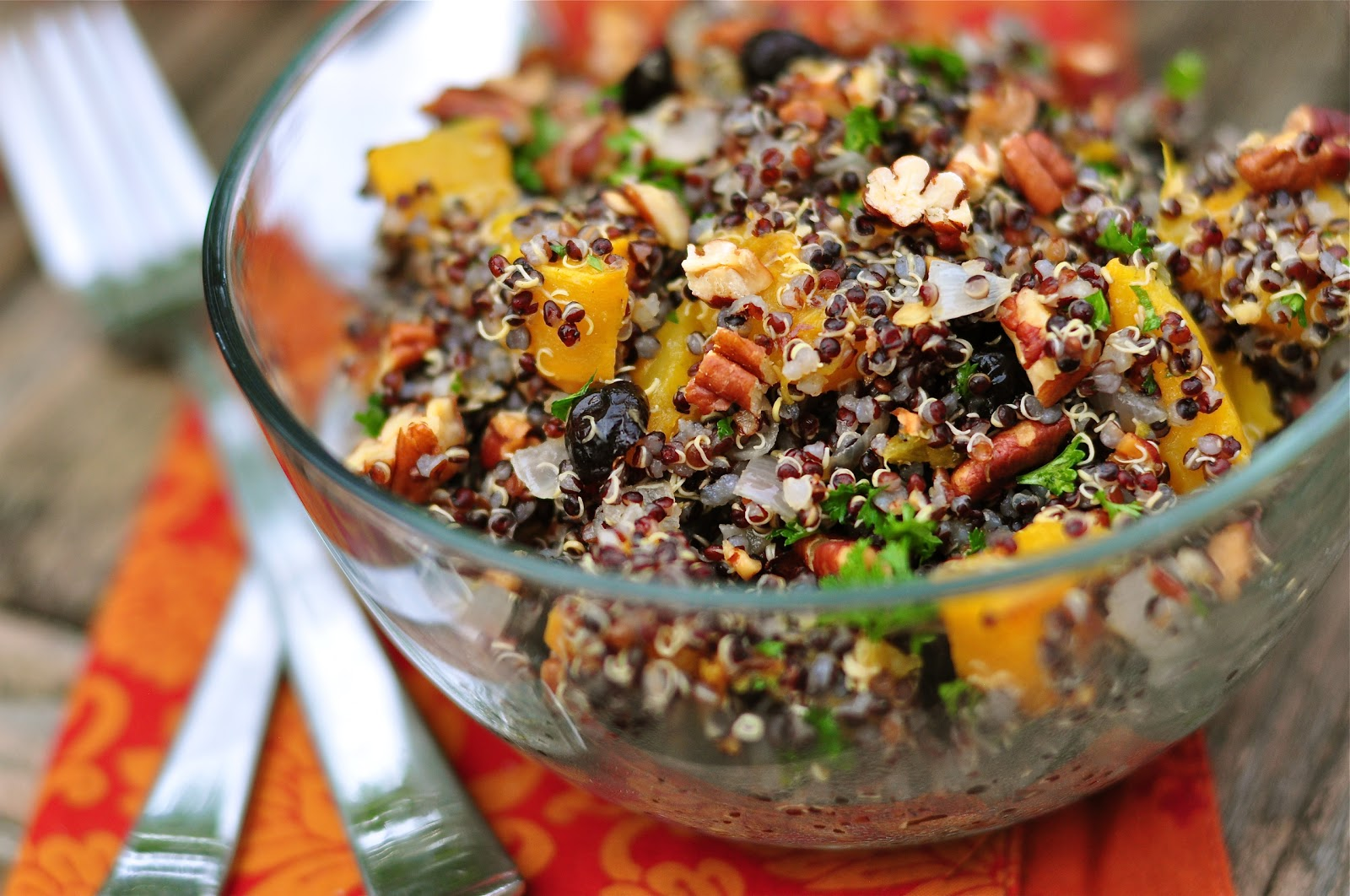 Nourishing Meals: Black Quinoa and Roasted Pumpkin Salad