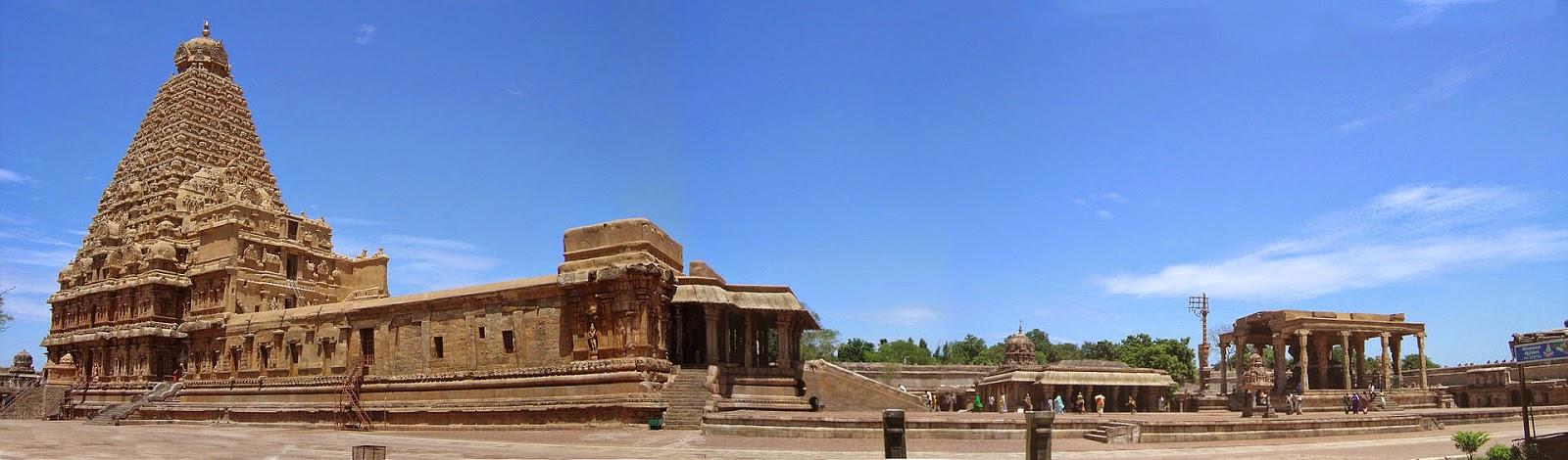 panorama of Bragatheeswarar temple, India