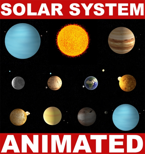 solar system of 3 d - photo #10