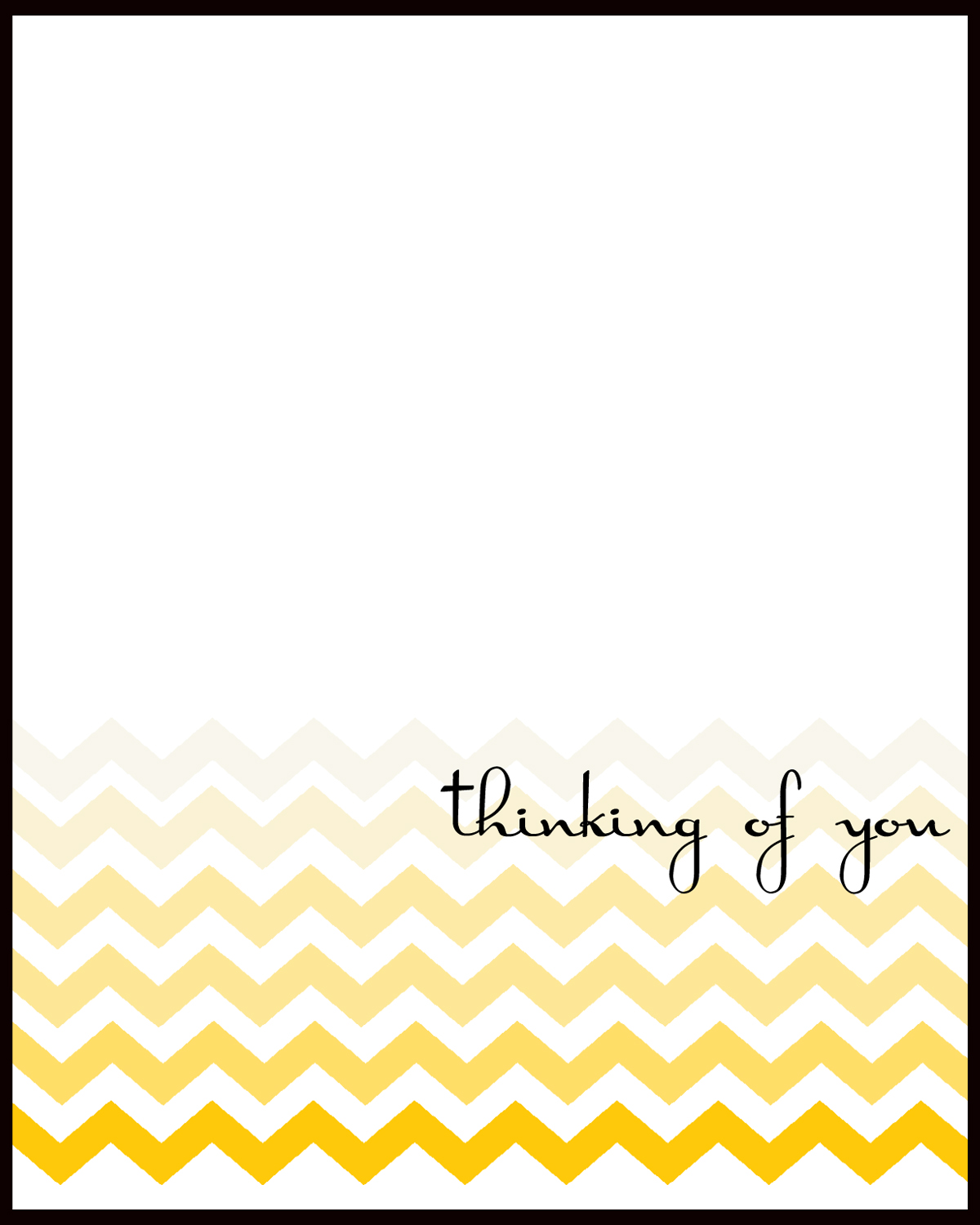 Selective image inside free printable thinking of you cards