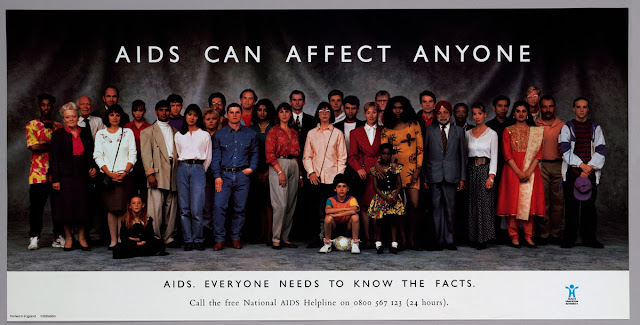 Campaña AIDS can affect anyone 1987 SIDA VIH