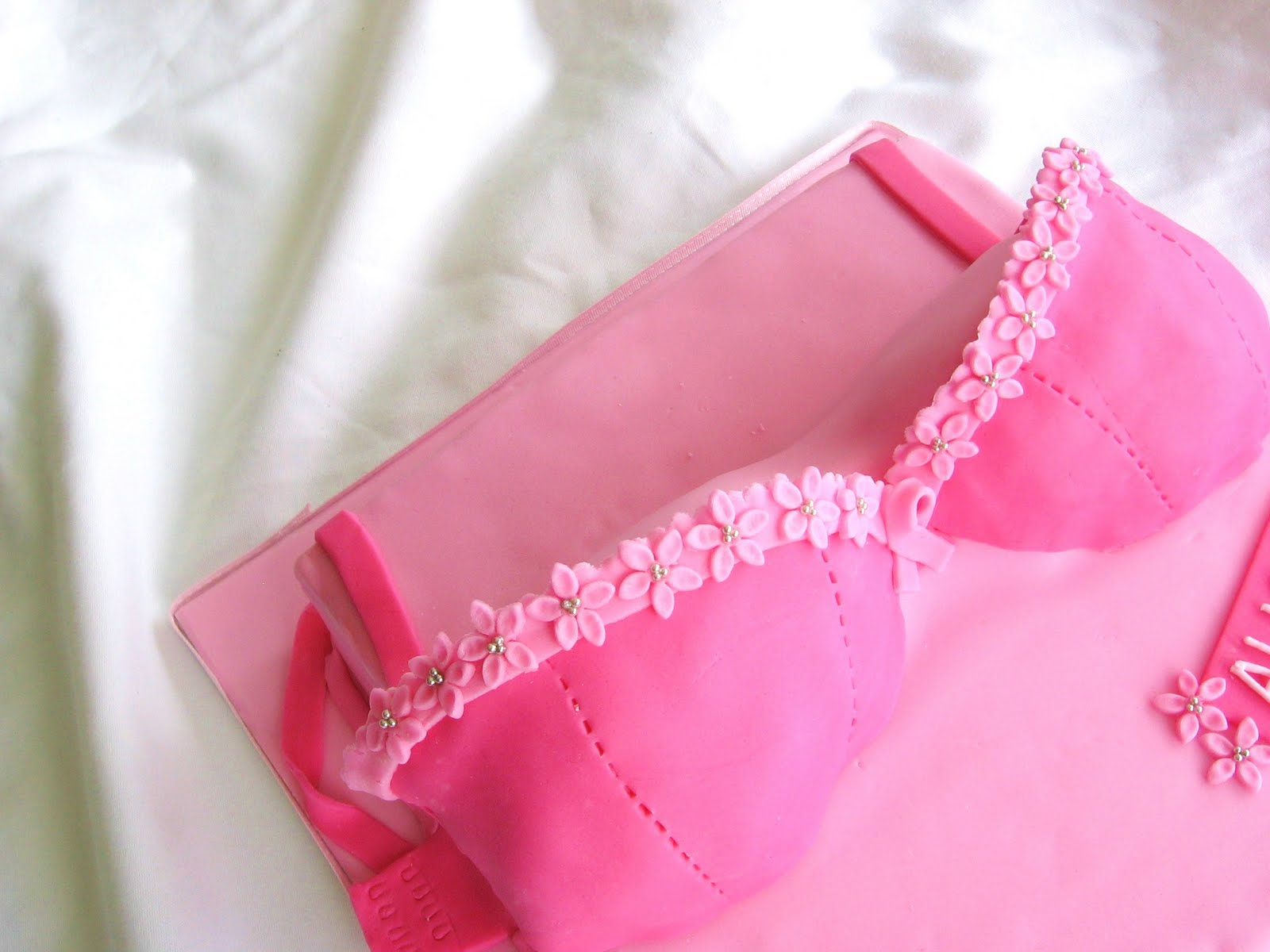 Breast Cancer Bra Decorating Ideas http://rachelwarnercakes.blogspot.com/2011/06/breast-cancer-bra-cake.html