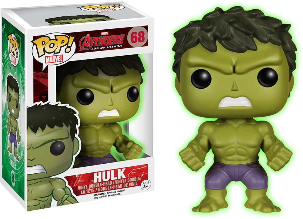 Glow in the dark Hulk Funko Pop!