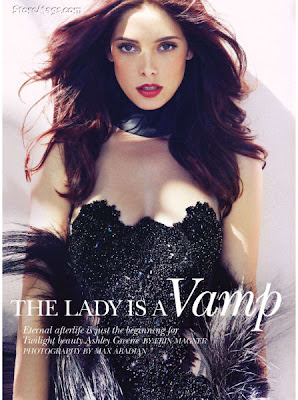 Hot Hollywood Celebrity Ashley Greene in Flare, Canada, December 2011 Magazine Cover Page