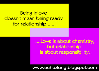 Love is about chemistry, but relationship is responsibility - Love Quotes Collection