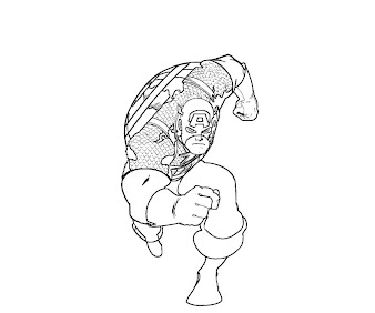 #4 Captain America Coloring Page