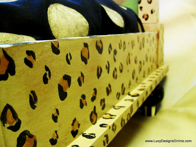 hand painted leopard print animal print
