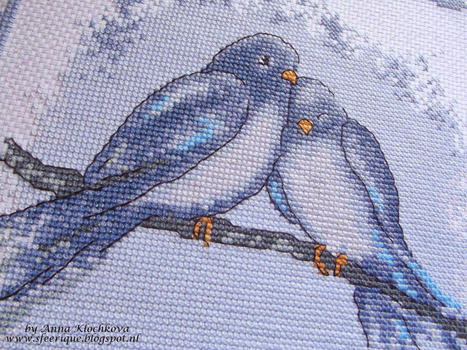 Голуби для вышивки 57