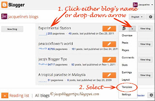 Screenshot to illustrate how to change font style of Page Tabs - Step 2