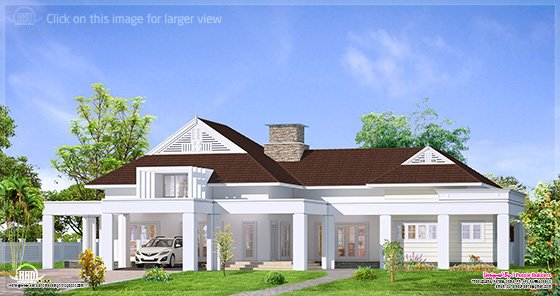 Single floor luxury bungalow