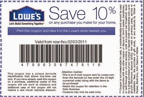Lowes Printable Coupons September 2015