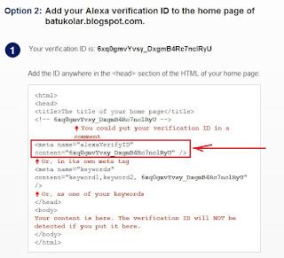verifikasi kode saat daftar blog di alexa
