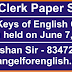 Junior Clerk Paper Solution/Answer Keys of English Grammar - Exam held on 7th June, 2015