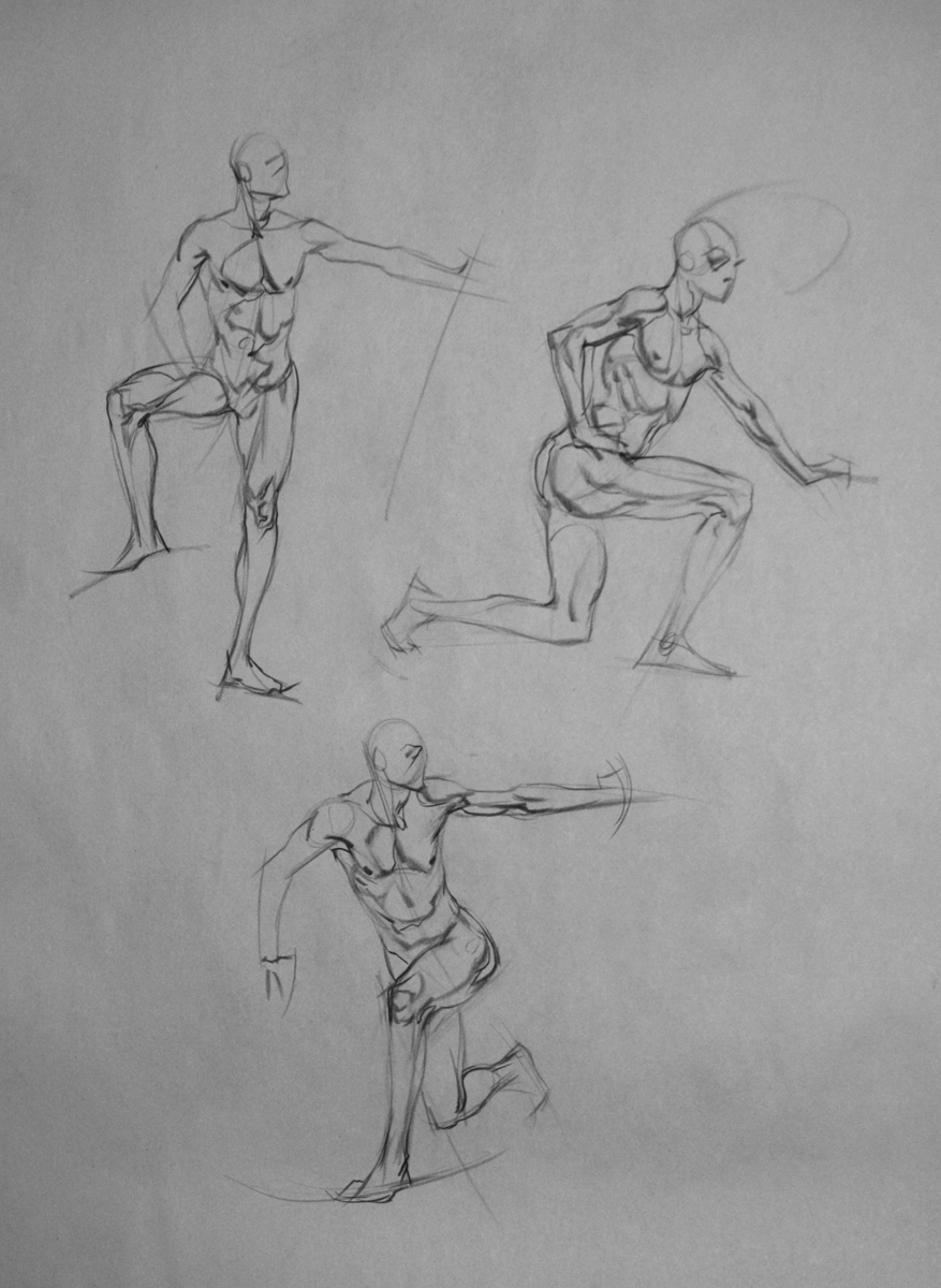 E. M. Gist Illustration/ Dead Of The Day Quick Sketch And Anatomy