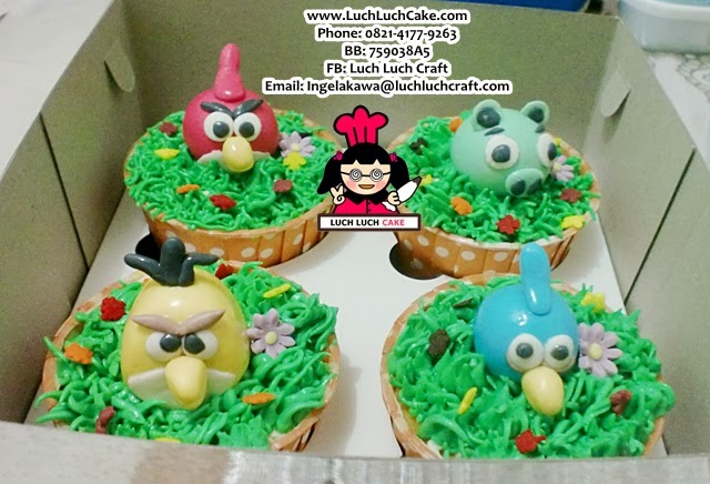 Cupcake Angry Bird Daerah Surabaya dan Sidoarjo