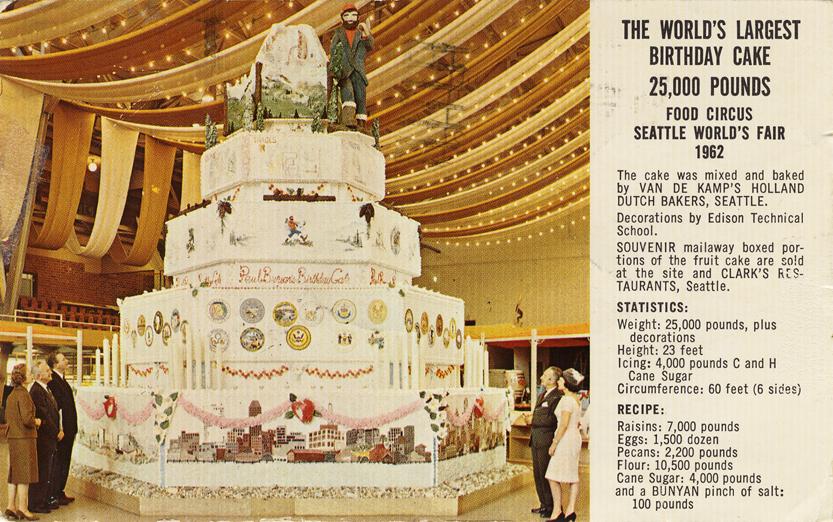 Source Architecture Design 1962 Seattle Worlds Fair Birthday Cake