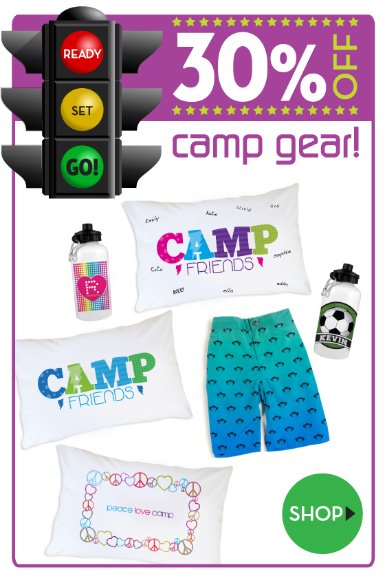 30% off Camp Gear