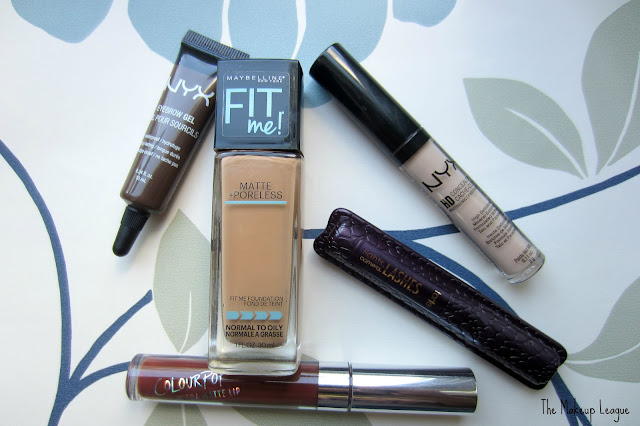 maybelline fit me nyx eyebrow gel concealer tarte mascara colourpop matte lip