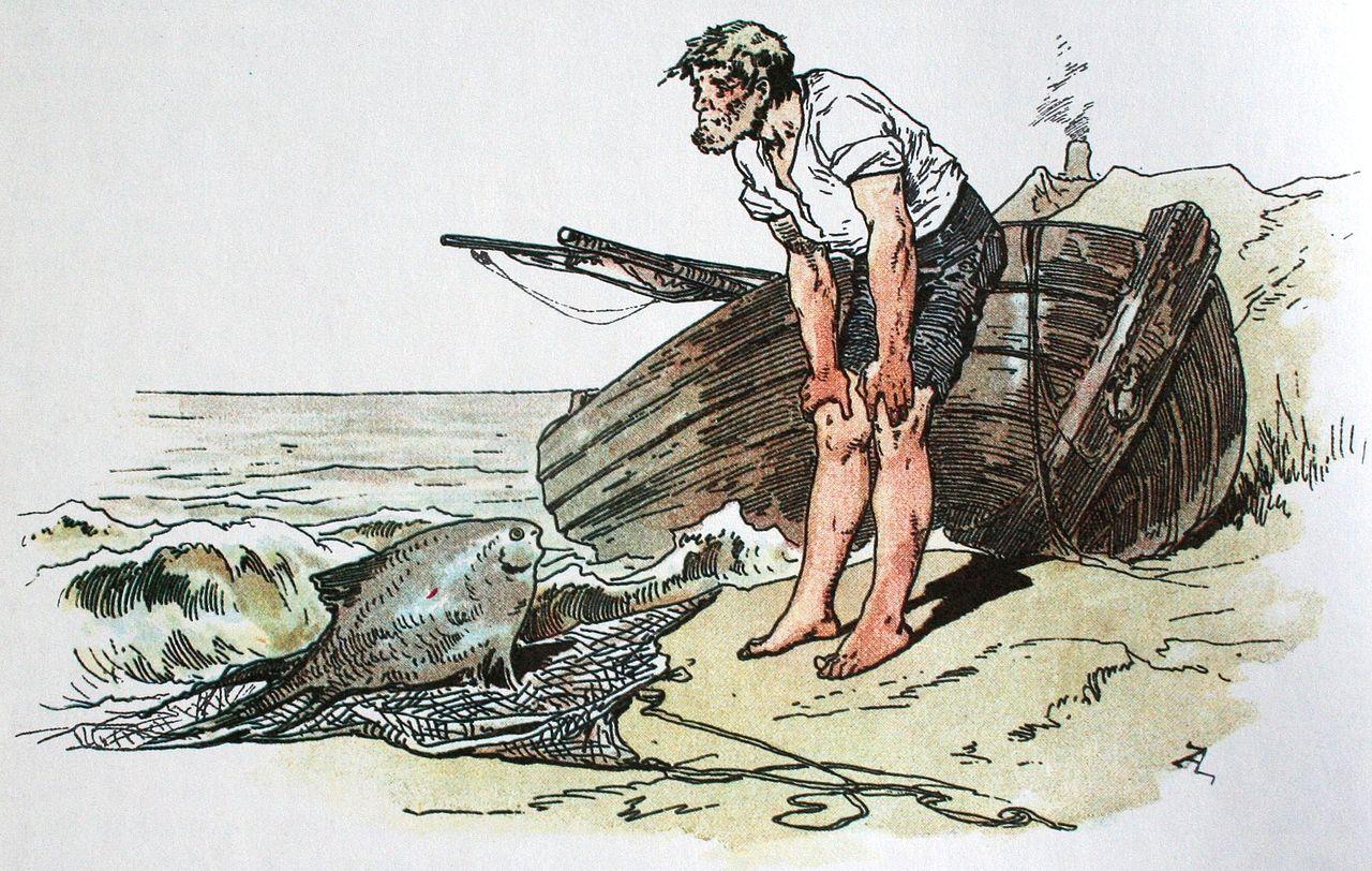 гримм о рыбаке и рыбке