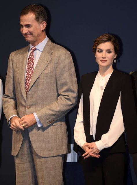 King Felipe VI of Spain and Queen Letizia of Spain attended the National Innovation and Design Awards 2015