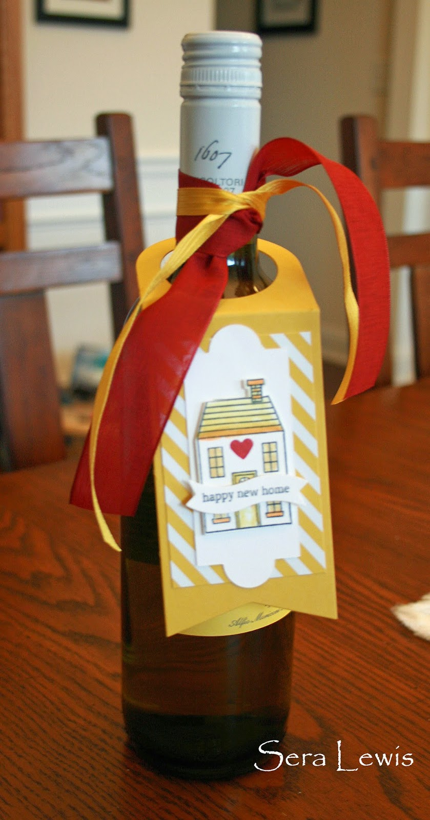 Gift tag using Holiday Home stamps: Idea for non-Christmas projects