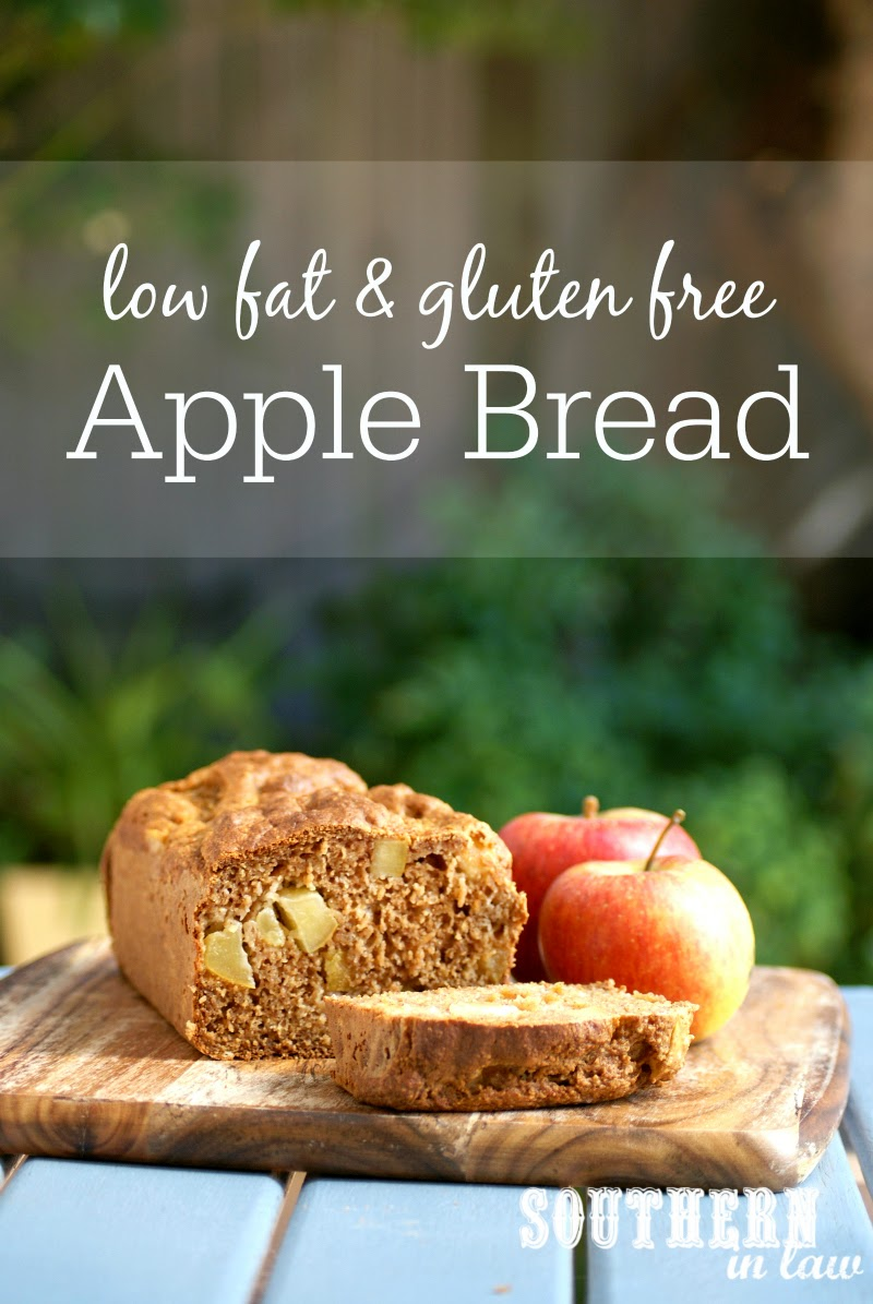 Healthy Apple Bread Recipe | low fat, gluten free, healthy, clean eating friendly, refined sugar free