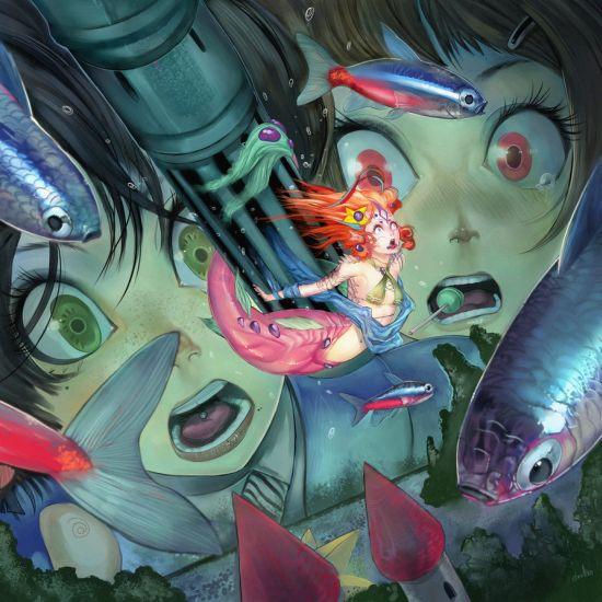 Hector Sevilla deviantart ilustrações mulheres sensuais fantasia estilo anime mangá Sereia sashimi
