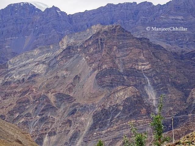 Pattern on Mountains of Spiti