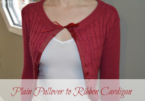Pullover to Ribbon Cardi