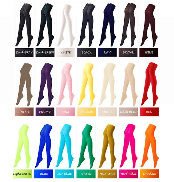 kolorowe rajstopy