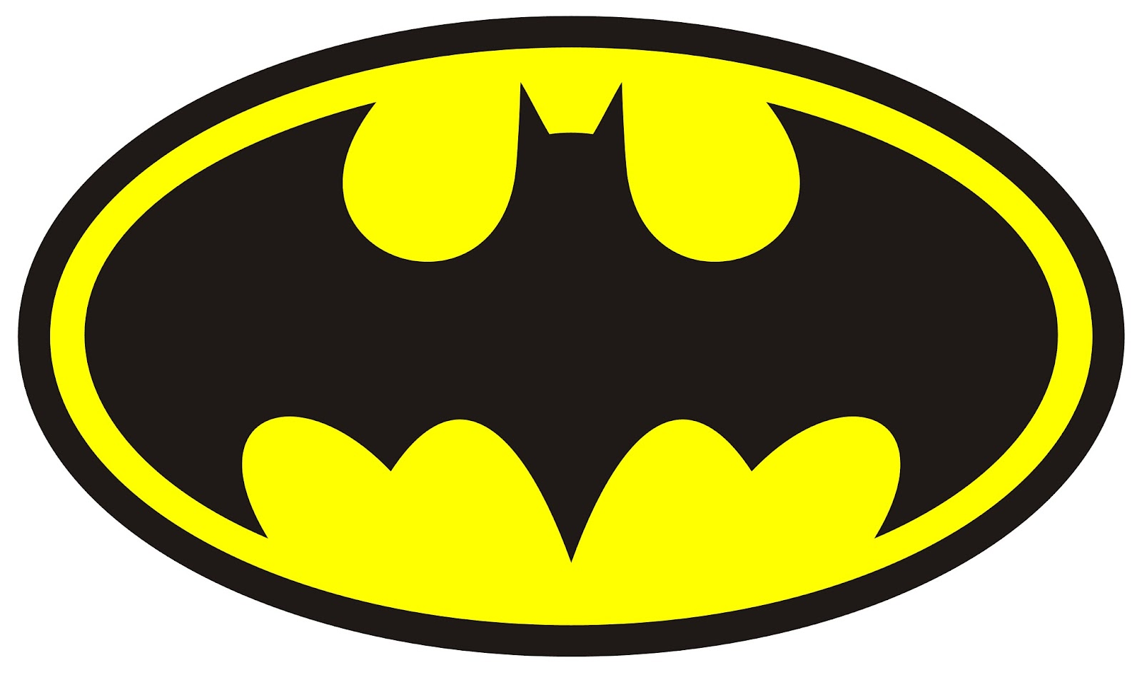 Intrepid image inside free printable batman logo