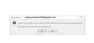 Membuat Mozilla Firefox Menjadi Default Browser