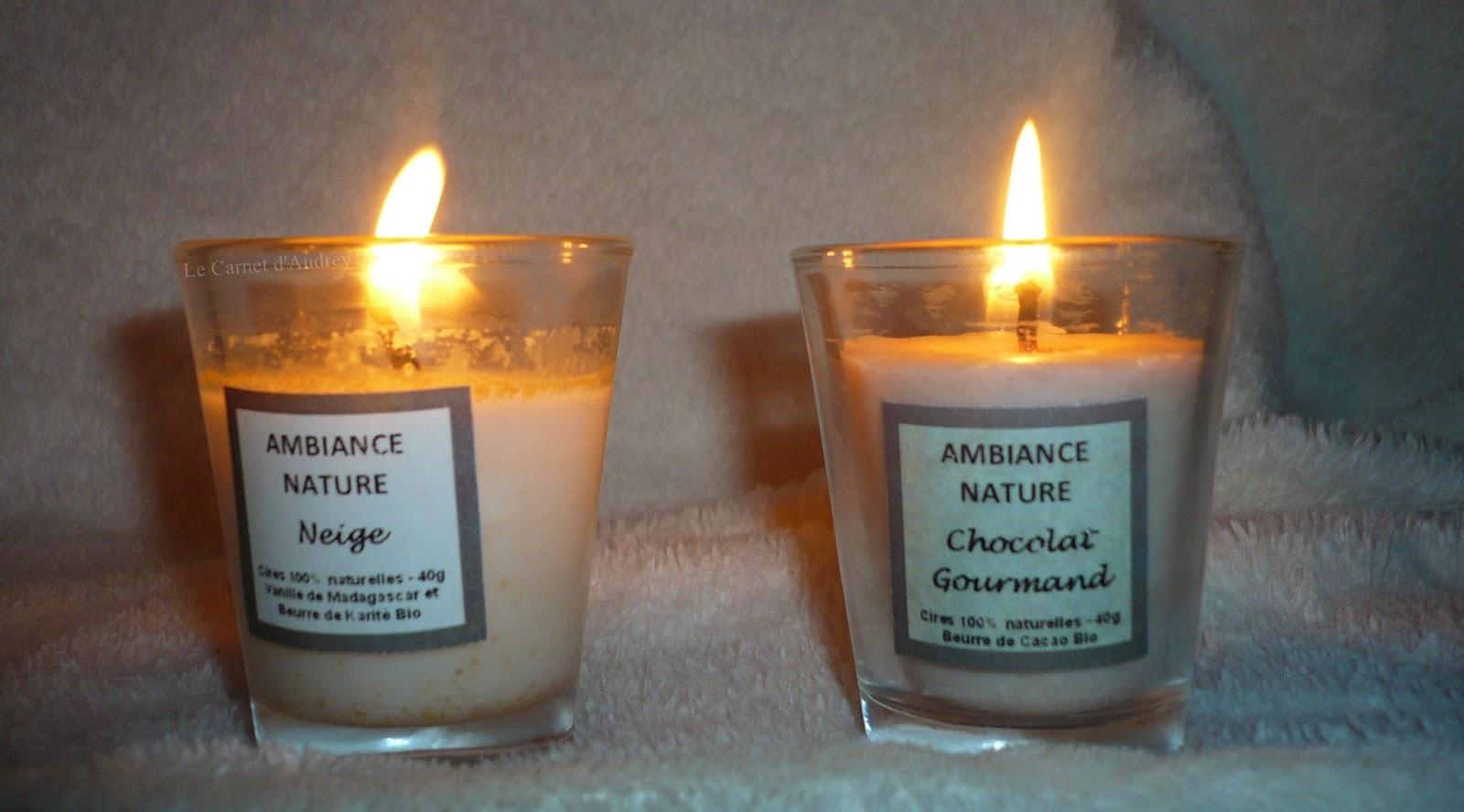 ambiance nature bougies en cire de soja 100 naturelle