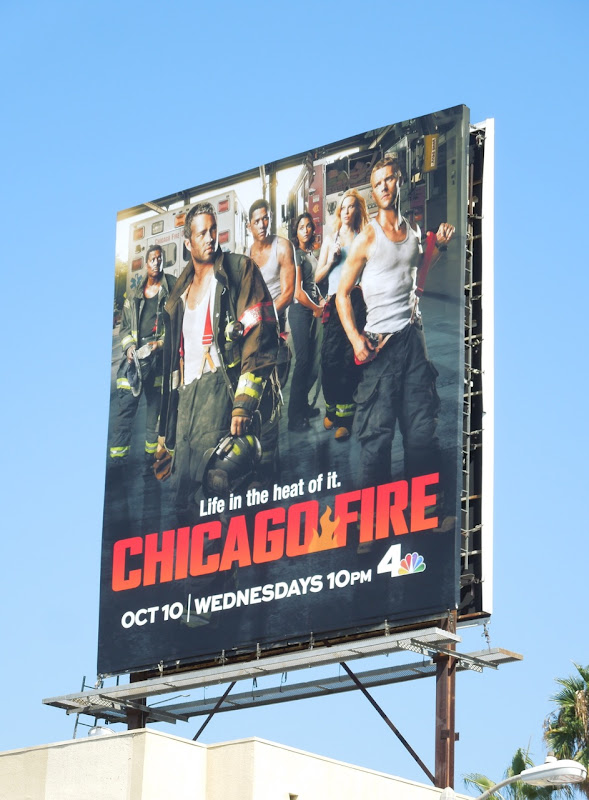 Chicago Fire season 1 NBC billboard